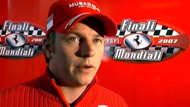Formula-kuski Kimi Räikkönen Urheiluruuden haastattelussa 2007.