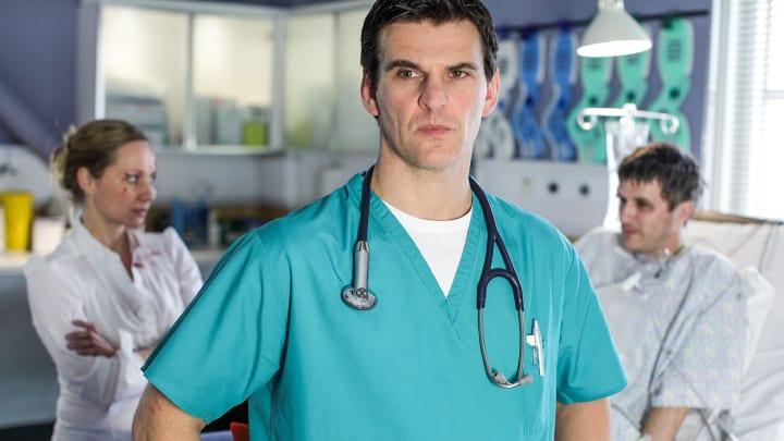 läkar assistent som dejtar en patient