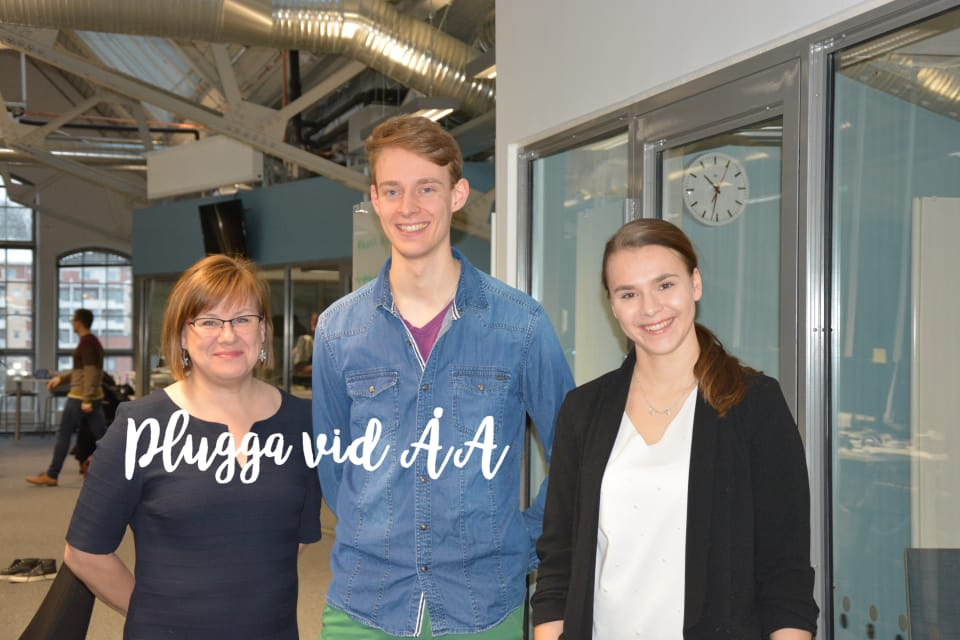 ed5f9e3c864 Professor Elina Pirjatanniemi och studenterna Patrik Schubert och Jasmine  Grönblad berättar om studierna i folkrätt vid Åbo Akademi.