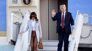 Видео: Trump saapui Suomeen - katso videolta, kun kun Donald vilkuttaa koneen portailta Helsinki-Vantaalla