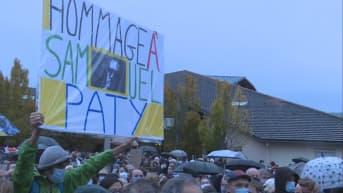 Ranskalaiset järjestivät muistomarssin tapetulle opettajalle