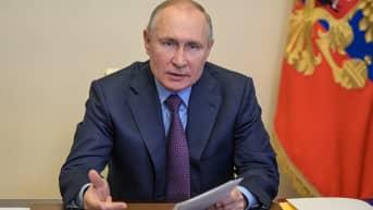Venäjän presidentti Vladimir Putin pitää vuosittaisen linjapuheensa