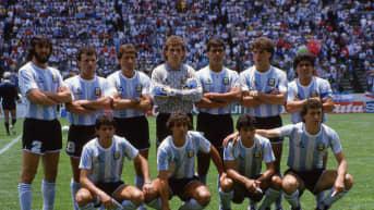 Argentiinan joukkue MM-finaalissa 1986.
