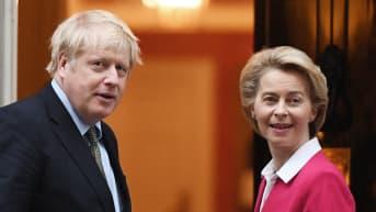 Boris Johnson ja Ursula von der Leyen.