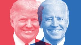 Republikaanien presidenttiehdokas Donald Trump ja demokraattien ehdokas Joe Biden.