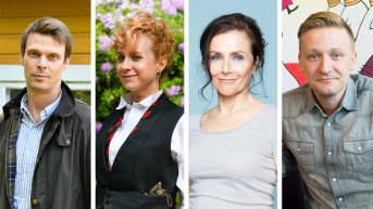 Andrei Alén, Sanna-June Hyde, Maija Paunio ja Kris Gummerus.