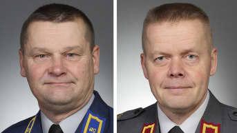 Juha-Pekka Keränen (vas.) ja Timo Saarinen.