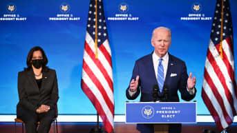 Tuleva prseidentti Joe Biden ja varapresidentti Kamala Harris