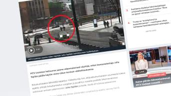 MTV uutisten uutinen Sipilään kohdistuneesta välikohtauksesta