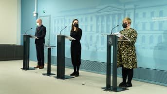 Jussi Saramo, Sanna Marin ja Annika Saarikko