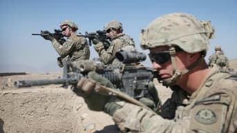 Yhdysvaltain sotilaita Afghanistanissa.