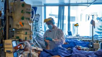 Tehohoitoyksikkö budapestilaisesas Semmelweisin sairaalassa.