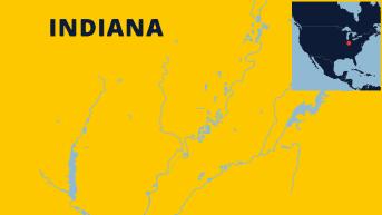 Indianapolisin kartta.