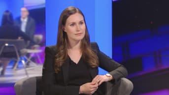 Pääministeri Sanna Marin A-Studiossa TV1, 10.joulukuuta 2019