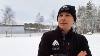 Matkailuyrittäjä Ville Haavikko Arctic Snowhotel & Glass Igloos -yrityksestä Rovaniemeltä.