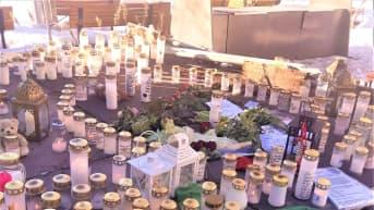 Koskelan turmapaikalle on tuotu muistokynttilöitä ja vihreä huppari.