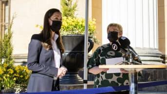 Marin ja Saarikko kommentoivat puoliväliriihen neuvottelujen tilannetta