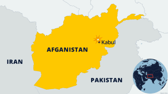 Afghanistanin kartta.