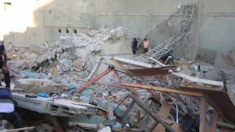 Israel teki iskun mediataloon Gazassa