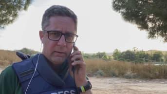 Ylen toimittaja Antti Kuronen raportoi Israelin ja Gazan rajalta