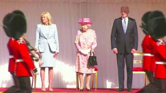 Bidenit tapasivat kuningatar Elisabetin