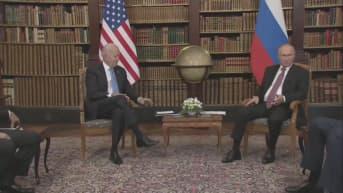 Biden ja Putin kuvattavina ennen Geneven keskustelujen alkamista
