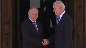 Putin ja Biden kättelivät ja vaihtoivat kohteliaisuuksia