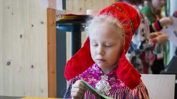 Sámi álbmotbeaivi 6.2.2019 sámekulturguovddáš Sajosis Anáris / Saamelaisten kansallispäivä 6.2.2019 saamelaiskulttuurikeskus Sajoksessa Inarissa.