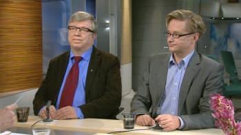 Aamu-tv:n vieraana Timo Laaninen ja MIkael Jungner.