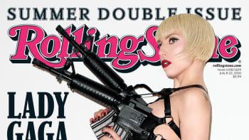 Rolling Stone -lehden kansikuva, jossa poseeraa Lady Gaga.