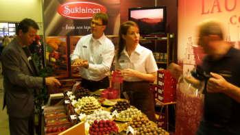 Suklaa on messujen yksi teemoista.