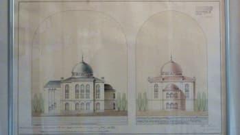 Piirros synagogasta.