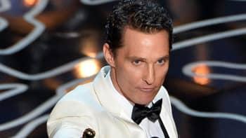 Matthew McConaughey Oscar-gaalassa.