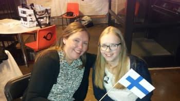 Äiti ja tytär, Venla ja Heli, jännittävät miten Suomen käy.- Armenia ja Ruotsi kuuluvat myös suosikkeihin.