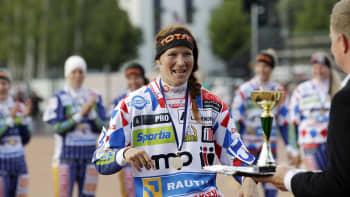 Laura Nuutinen oli Idän kakkospalkittu.