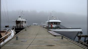 Laivalaituri sumussa Ylöjärvellä