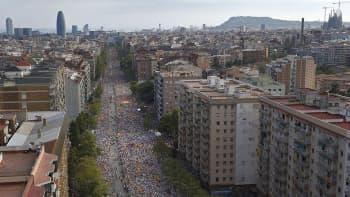 Kymmeniä tuhansia ihmisiä pitkällä ja leveällä kadulla.