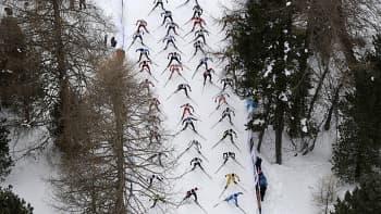 Hiihtomaraton Engadinen Laaksossa Sveitsissä 13. maaliskuuta.