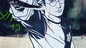 Harry Potter mangatyylisenä katutaideteoksena