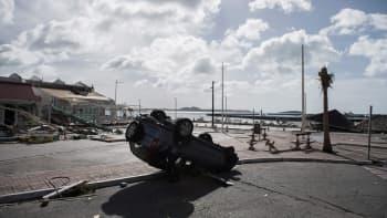 Fort Louis Marina kuvattuna hurrikaani Irman jäljiltä Marigotissa Sait-Martinin saarella 8. syyskuuta.