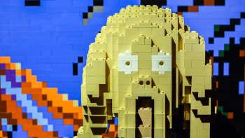 Nathan Sawaya, Art of the Brick, lego, Edvard Munch, Huuto