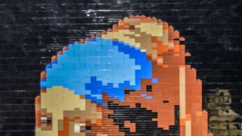 Nathan Sawaya, Art of the Brick, lego, Johannes Vermeer, Tyttö ja helmikorvakoru