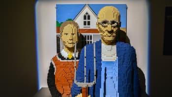Nathan Sawaya, Art of the Brick, lego, Grant Wood, Amerikkalaista gotiikkaa