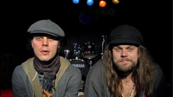 Ville Valo ja basisti Mikko Paananen Venus Doomin julkaisutilaisuudessa 27. syyskuuta 2007