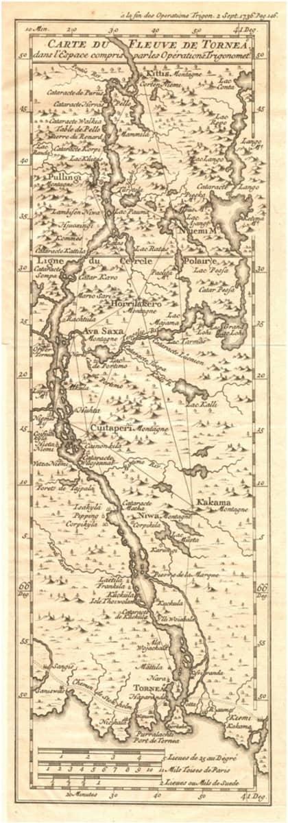 Tornionjokilaakson kartta astemittaus
