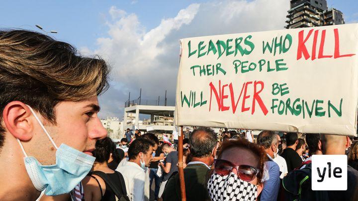 Libanon räjähdyksen jälkeen
