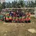 Mikko Pirhonen Bangladeshissa pesäpallomaajoukkueen kanssa.