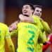Maalihai Jordan Hugill on Norwichin pelaajien onniteltava.