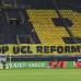 1. BUNDESLIGA BORUSSIA DORTMUND - WERDER BREMEN Banner auf der Südtribüne, Stop UCL Reforms 18.04.2021, Fussball GER, Saison
