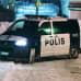 Poliisiauto asuinalueella Laajasalossa.